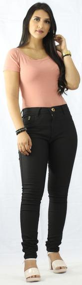 Kit 4 Calça Jeans Cintura Alta Strech Lycra Cós Alto Ref:32