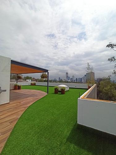 Imagen 1 de 20 de Townhouse A Estrenar Con Roof Privado Con Hermosa Vista/ Las