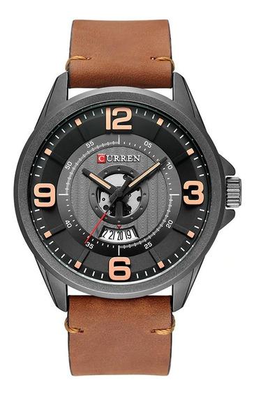 Reloj Curren 8305 Cuarzo Resistente Al Agua Correa De Cuero