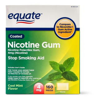 Chicle Nicotina Nicorette Gum 160 4mg Dejar De Fumar Coolmin