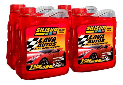 Imagen 1 de 4 de Shampoo Lava Autos Premium Silisur 1.5lt Pack 4un