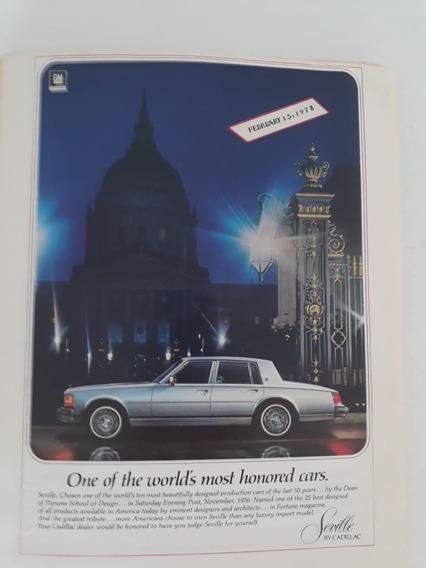 Propaganda Antiga Cadillac Seville 1978 Raro Anúncio Coleção