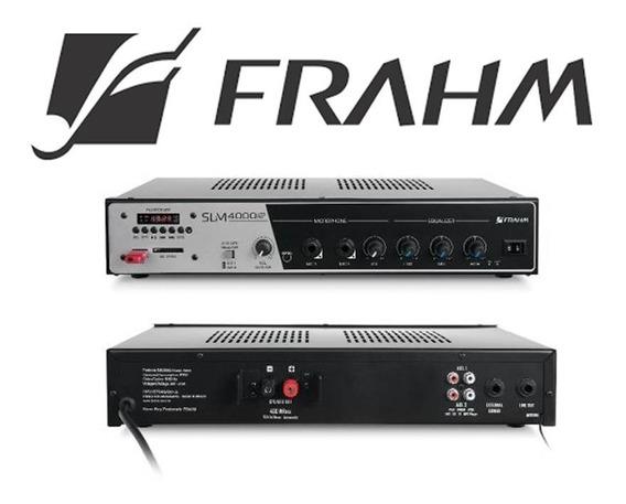 Frahm Amplificador Som Ambiente Slim4000f Usb/sd/radio 400w