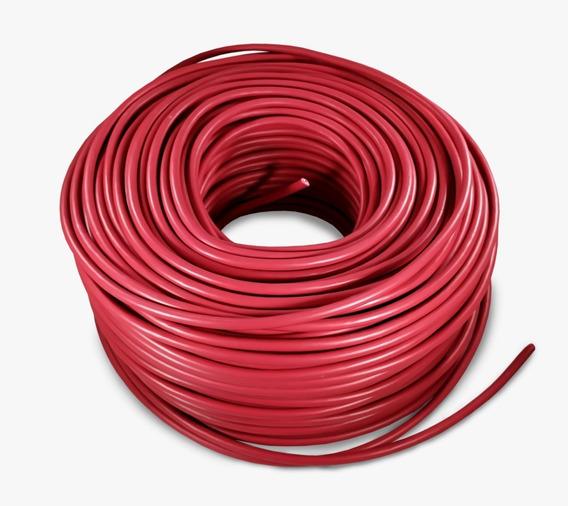 Cable Eléctrico Calibre 10 Thw Alucobre 100m Unipolar Rojo