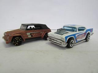 Escala 1/64 Hot Wheels 1 Carro Branco E 1 Marrom Jorgetrens