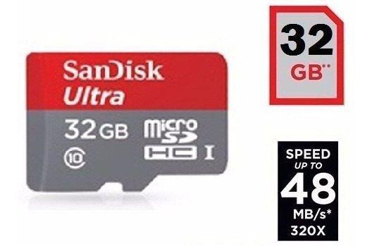 Cartão Micro Sd Sdhc 32gb Ultra Sd Sandisk Classe 10 48mb/s