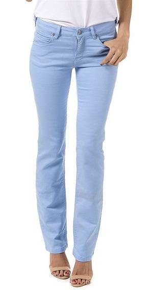 Calça Reta Judy Color Azul Claro - Bloom Jeans