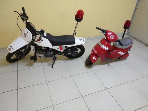 Imagem 1 de 15 de Duas - Motinhos Rocam E Bombeiro 2012 Motor 35 Cc E 110cc