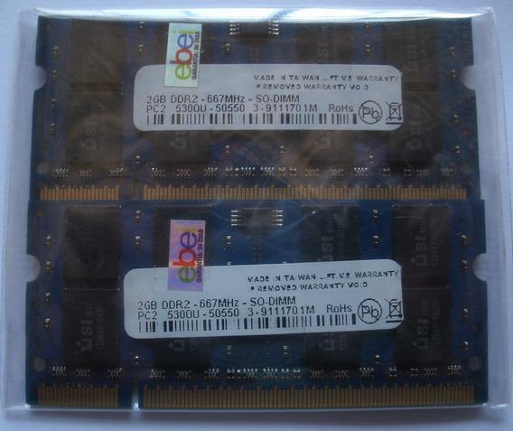 4gb Memoria Ddr2 Pc2-5300u 667 200 Pin So Dimm Macbook