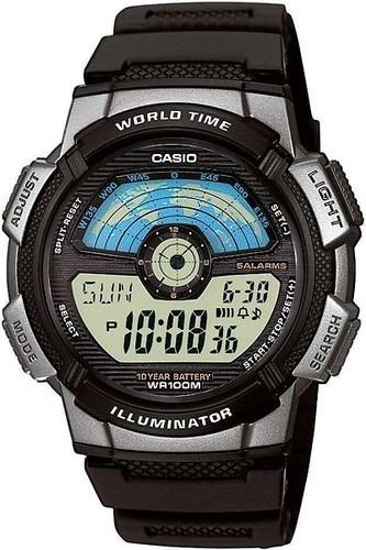Relógio Casio Standard Masculino World Time Ae-1100w-1avdf