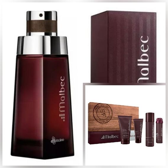 Kit Malbec O Boticário Perfume 100 Ml+kit Viagem Com 4 Itens (frete Gratis)