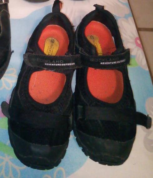 Pferta Zapatos Niña Rockland 100% Original Casi Nuevos