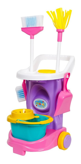 Kit De Limpeza Infantil Cleaning Trolley - Maral - Rosa