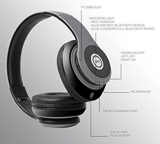 Ijoy Matte Recargable Bluetooth Inalámbrico Plegable -50%