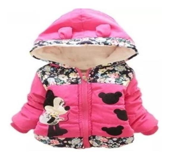 Jaqueta Sobretudo Casaco Infantil Minnie Disney Flanelado