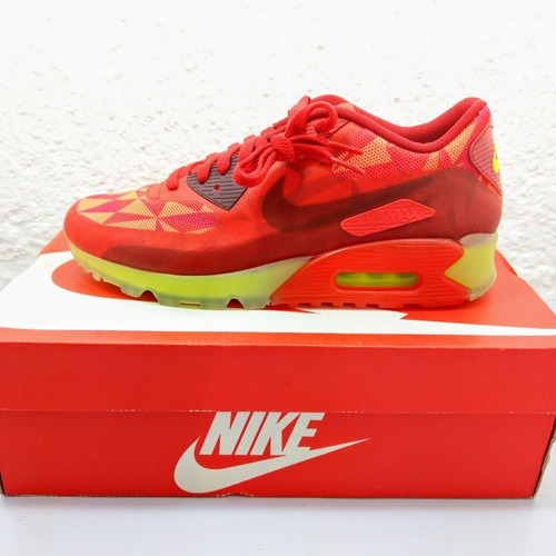 separation shoes 84f37 4607c Nike Air Max 90 Ice Gym Red (nuevos En Caja #26.5)