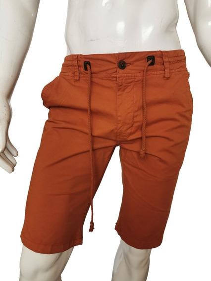 Bermuda Gabardina Hombre Moda Casual Short Premium Slim Fit