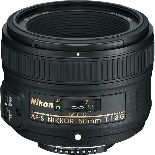 Lente Nikon Af-s Nikkor 50 Mm F / 1.8g Com Parasol