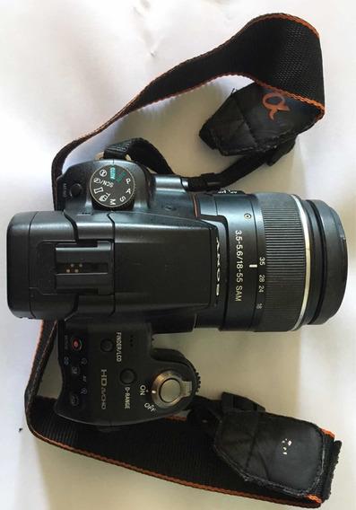 Kit Sony Alpha 35 (câmera + Lentes + Baterias + Bolsa...)