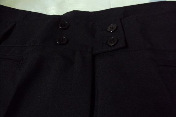 Pantalón De Vestir Negro Talle 6 Para Señora