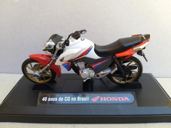 Miniatura Moto Titan 160 Honda Com Defeito Leia Anúncio