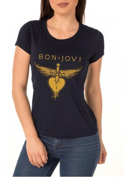 Camiseta Camisa Baby Look Bon Jovi Rock In Rio 2019 A Melhor