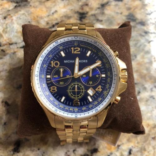 Relógio Michael Kors 8125 Gold Blue