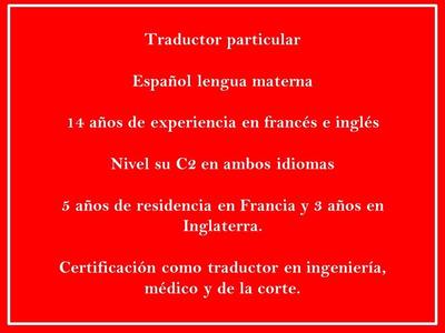 Traducciones Español Ingles Frances Rapido Barato Profesiona