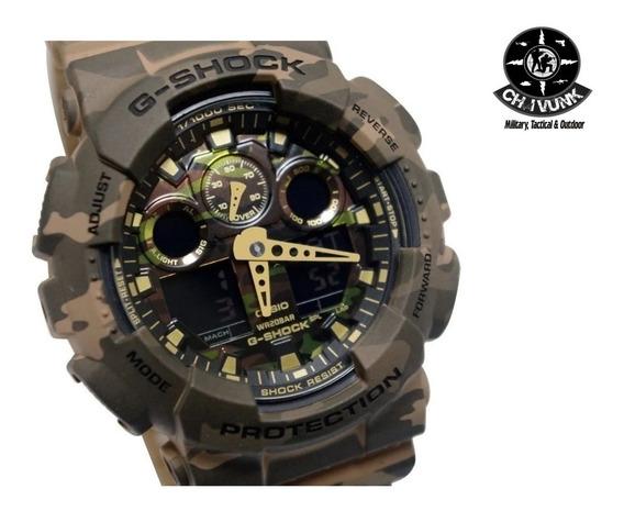 Relógio Casio G-shock Camuflado Bege Ga-100cm-5adr