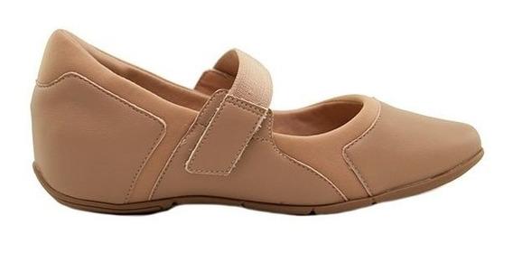 Zapatillas Mujer Lycra Avellana Plantilla Confort Con Abrojo
