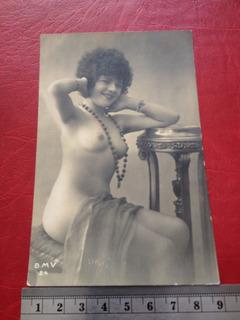 Antigua Postal Desnudo Foto Erótica