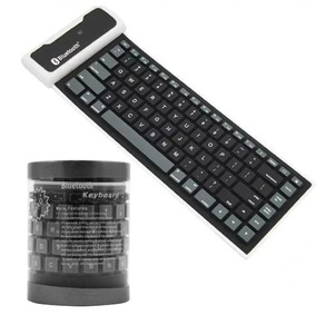 Teclado Flexível Silicone P/ Tablet Wireless Bluetooth Mini