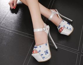 Sandália Plataforma Importado Luxo Feminina