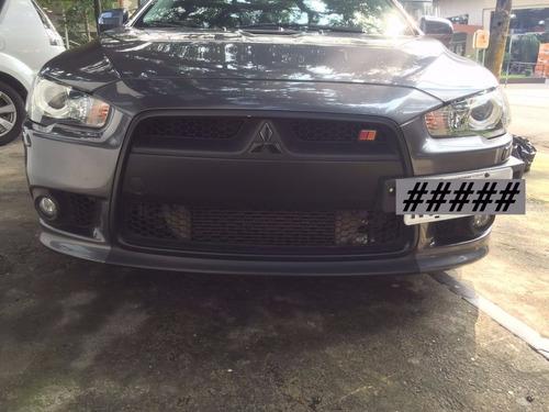 Aplique Preto Fosco Para Emblema Mitsubishi Lancer E Asx Par