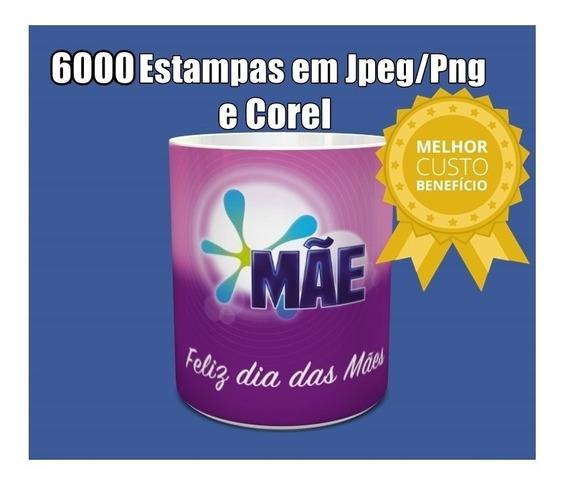 6000 Estampas Para Canecas Artes Sublimação Jpeg/png/corel