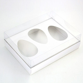 Caixa Premium Trio Para Ovo De Colher Branco C/30un