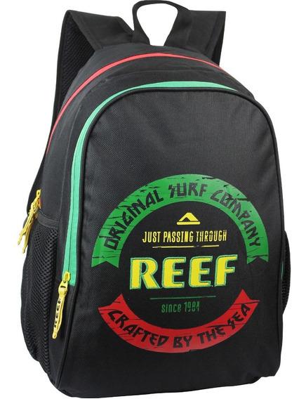 Mochila Reef Estampa Original Surf Company 17.5 Pulg C/env