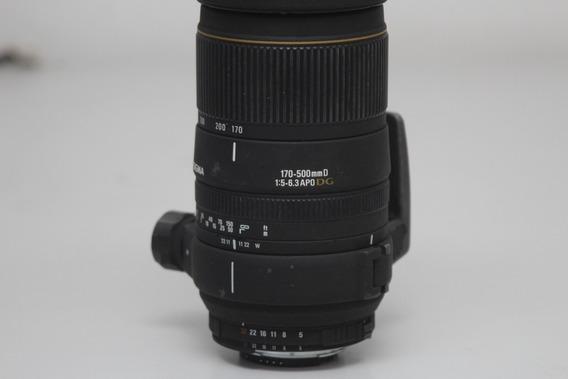 Objetiva Sigma Para Nikon 170-500 5-6.3 Apo Dg