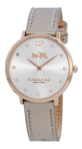 Reloj Coach Dama 14502684 Slim Easton Cuero Swarovski