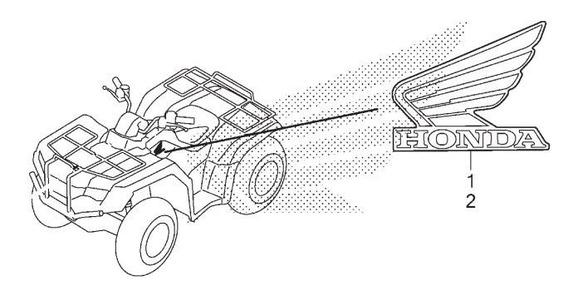 Adesivo Emblema Lado Esq Do Tanque De Combustível Fourtrax