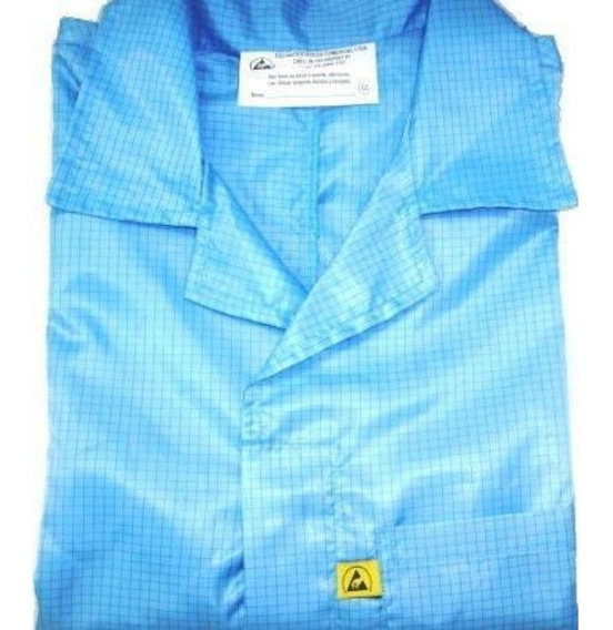 Jaleco Antiestático Lavável Avental M Azul Royal