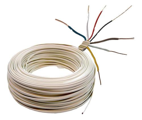 Imagen 1 de 1 de Cable De 3 Pares X 20 Mts Para Alarma Domiciliaria