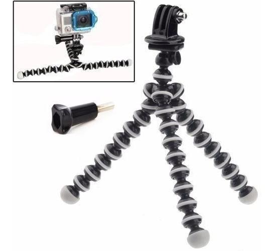 Kit Mini Tripé Flexível Gorillapod P/ Go Pro Black 5 6 7 4