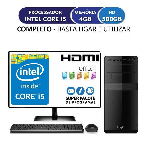 Computador Pc Cpu Completo Intel Core I5 4gb 500gb Monitor