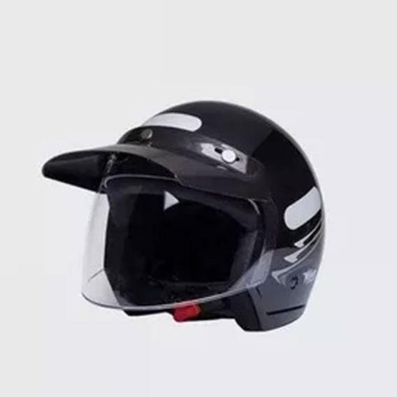 Capacete Moto Aberto Wind V2 Visor Speed Brac/verm/preto
