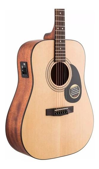 Guitarra Electroacustica Cort Ad810 Eop Con Funda Cort
