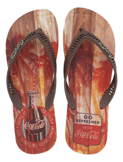 Chinelo Masculino Coca Cola Tropic Wood Cc2639