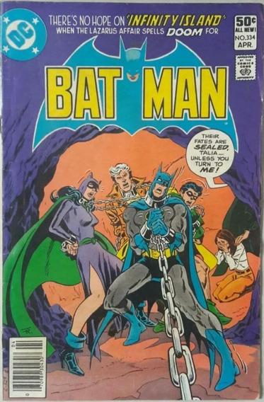 Revista Hqs Batman Importado U.s.a N°334 Ano 1981 - Amfrl