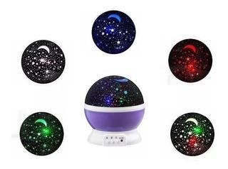 Velador Luz De Noche Estrellas Giratorio Galaxia Led Proyect