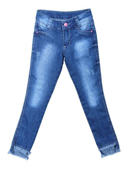 Calça Jeans Infantil Meninas Feminina Skinny Tamanhos 4-6-8-